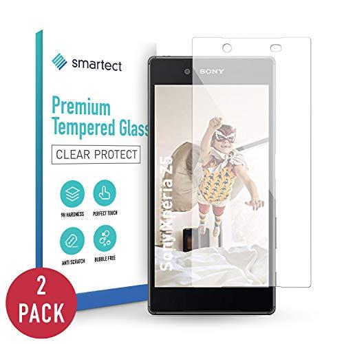 smartect Panzerglas kompatibel mit Sony Xperia Z5 [2 Stück] - Displayschutz mit 9H Härte - Blasenfreie Schutzfolie - Anti Fingerprint Panzerglasfolie