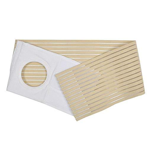 Cinturón de ostoma elástico para hombres y mujeres con cinturón de cintura y abdomen, utilizado para el cuidado de la colostomia postoperatoria, adhesión de la banda abdominal, Apertura del estoma (L)