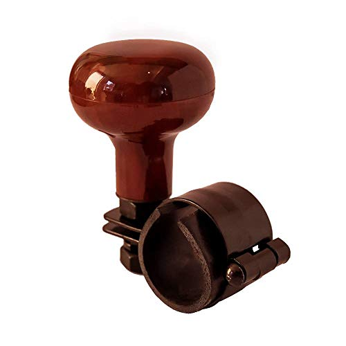 TronicXL Lenkradknauf für Auto Traktor LKW Lenkhilfe Lenkrad Knopf Holz Design Bagger Gabelstapler Lenkradknopf Hilfe