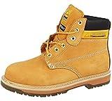 Botas de seguridad para hombre Groundwork SK21, con punta de acero y cordones, color Amarillo, talla 44
