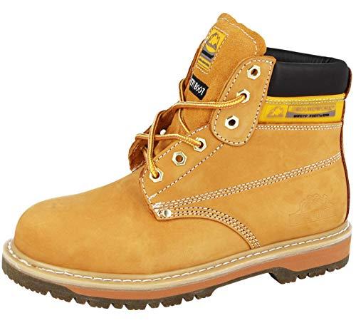 Footwear Sensation - Calzado de protección para hombre, color Amarillo, talla...
