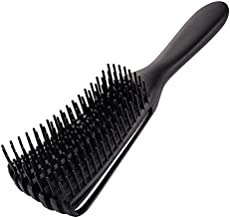 Detangling Brush for Black Natural Hair and Curly Hair,Soft Detangling Comb Detangler Hair Brush for African American 3c/4b/4c Hair,Afro hair,Thick Hair,Wavy Hair or Fine Hair,Wet&Dry (black)