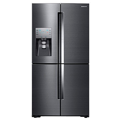 Samsung 22.1 cu. ft. 4-Door Flex Food Showcase French Door Refrigerator in Black Stainless, Counter Depth