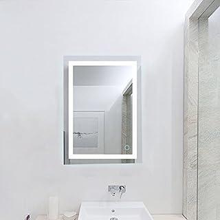 Flyelf Salle de Bain Miroir Illumination LED Lampe Eclairage (60 x 80cm, 60 x 80cm Lumière Blanche Froide)
