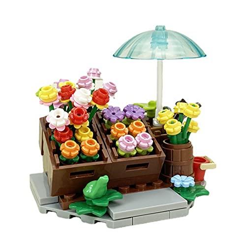 WWEI Juego de construcción de tienda de flores retro, tienda de flores, tienda de flores, modular Building, modelo de casa Street View edificios, bloques de sujeción, compatible con Lego