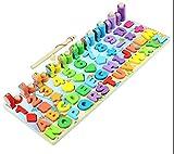 CHLOENCE Montessori - Juego educativo método Montessori, pesca magnética + aprende números letras colores y formas geométricas como el método educativo Montessori