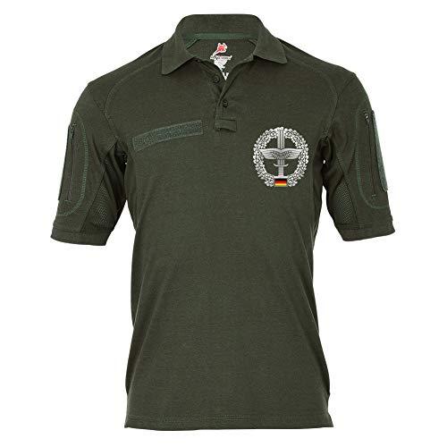 Copytec Tactical Polo Heeresflieger Barett-Abzeichen Bundeswehr Fritzlar Bo105 Wappen Einheit Staffel #22114, Größe:XL, Farbe:Oliv