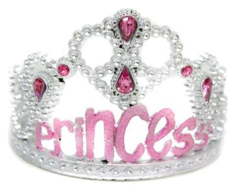Glamour Girlz Niedliche Silberne Plastikmädchen-Damen-Prinzessin Brautschwarzes Bindungs-Ball-Tiara-Kronen-Rosa