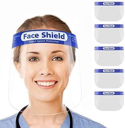 Gesichtsschutz aus Kunststoff Gesichtsschild Schutzschild Schutzvisier Visier Transparent Anti-Saliva Anti-Fog Splash für Damen & Herren