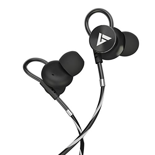 Boult Audio BassBuds Loop in-Ear Wired Earphones with 12mm Powerful Driver for Extra Bass with Customizable Ear Loop & Mic (Grey)