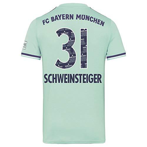 adidas Bayern München Away Schweinsteiger 31 Trikot 2018-2019 (Danke Basti Beflockung) - S
