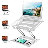 Adjustable Laptop Stand, Ergonomic Portable Computer Stand, Multi-Angle Laptop Holder with Heat-Vent to Elevate Laptop, Aluminum Notebook Riser Stand Compatible with MacBook Pro/Air, All Laptops