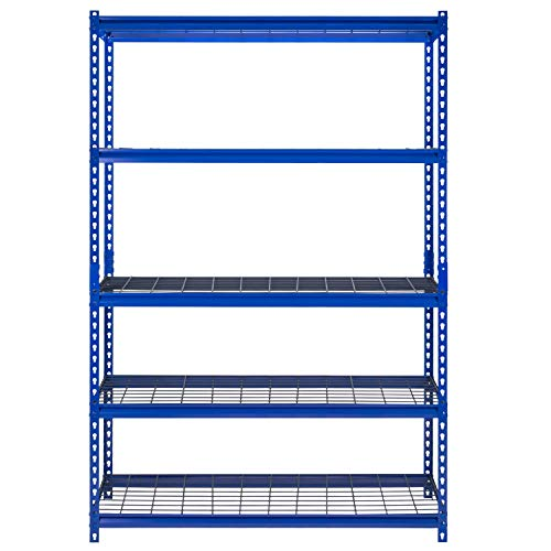 Muscle Rack 5-Shelf Steel Shelving Unit 48Wx18Dx72H