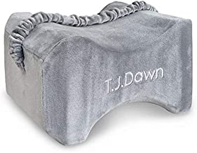 T.J.Dawn Comfort Orthopedic Knee Pillow Side Sleepers,Memory Foam Leg Pillows Between Knees,Relief Sciatica,Hip,Back,Pregnancy,Joint Pian-with Washable Cover