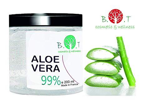 99% Gel Puro de Aloe Vera 200 ml Regenerador 100% natural Hidratante Todo tipo...