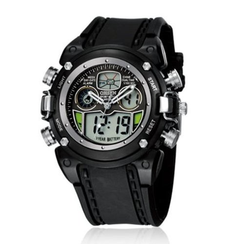 Ohsen Mens Digital Sport Watch With Black Case Black Band