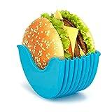 Soporte de hamburguesas original – Caja fija para hamburguesas, reutilizable,...
