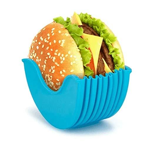 Soporte de hamburguesas original – Caja fija para hamburguesas, reutilizable, higiénica, embalaje...