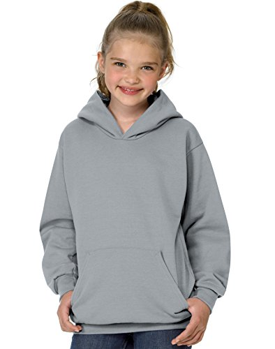 Hanes boys Youth ComfortBlend EcoSmart Pullover Hoodie(P473)-Light Steel-M
