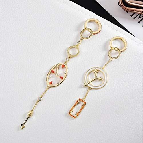 LOt Pendiente en Forma de Gota para Mujer Pendientes de Circonita con Microincrustaciones Elegantes Y Personalizados Relojes de Temperamento Asimétrico Que Combina con Todos Los Pendientes de MujerCo
