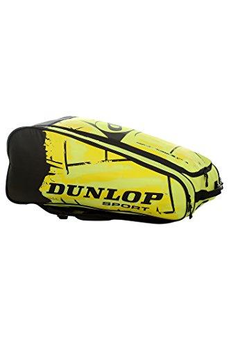 Dunlop Schlägertasche Revolution NT 10-Racket Bag, Gelb, 80 x 38 x 35 cm, 70 Liter