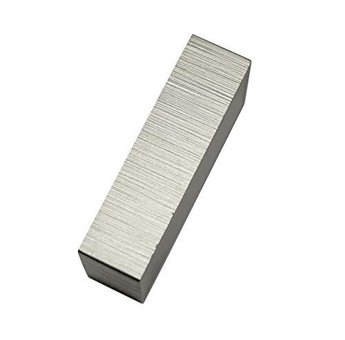 Gardinia Endstück Rechteck, 2 x Endkappe, Aluminium, gebürstet, für Aluminiumprofil mit Innenlauf Luxor rechteckig, Metall, stahl-gebrüstet, 4 x 2 x 1 cm, 2