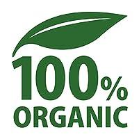 100% オーガニック ORGANIC 有機 シール ステッカー カッティングステッカー 光沢タイプ・防水 耐水・屋外耐候3~4年 (深緑, 75mm)