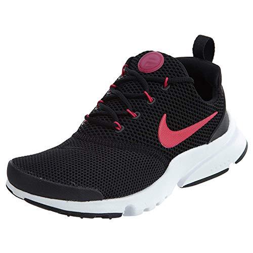Nike Kids Presto Fly Black/Rush Pink/Wht Running Shoe 5 Kids US