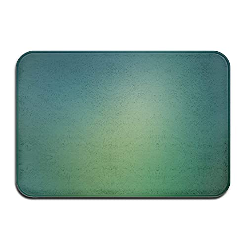 Alfombra de Felpudo de Alfombra de baño con Marcas de Agua de Ruido Verde, Alfombra Antideslizante para Interior, Exterior, Cocina, Entrada, baño