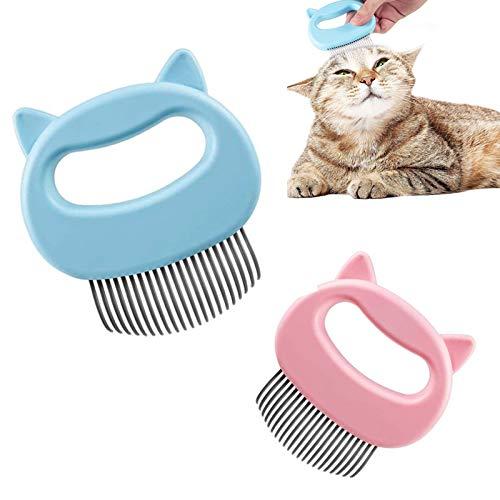 Katzenbürste,Bürste Katze Weich,Katzenkamm Massagekamm,Langhaar Kurzhaar Haustierkamm,Katzenhaarentferner für Langhaar,Tierbürste für Kleine Haustiere,Flohkamm und Läusekamm für die Pflege von Katzen