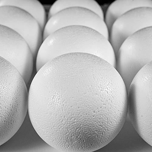 Styropor Lot de 10 Boules en polystyrène de 100 mm, EPS, Blanc, Ø