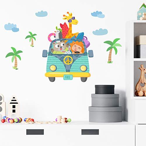 Vinilo bebé y niños - Furgo camping -70x35 cm- T0- Basico
