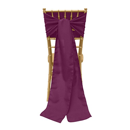 Ultimate Textile -2 Pack- 8 x 100-Inch Polyester Chair Tie Sashes, Magenta