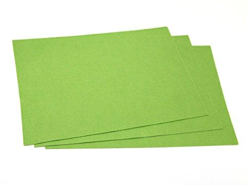 Minerva Crafts Feutre acrylique uni A4 rectangle Vert printemps – par feuille