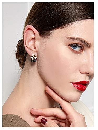 Ein Paar Ohrringe Mädchen Damen 925 Weiß Pilz Nadel Blume Schmuck Endohrringe geeignet für Geburtstag Party Weihnachten Freundschaft Geschenke