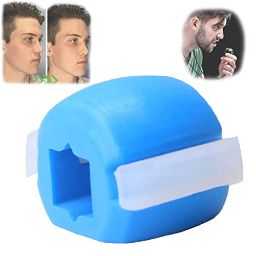 Jaw, Face, and Neck Exerciser, Define Your Jawline, Slim and Tone Your Face, Look Younger and Healthier, Facial Exerciser Helps Reduce Stress and Cravings (blue)
