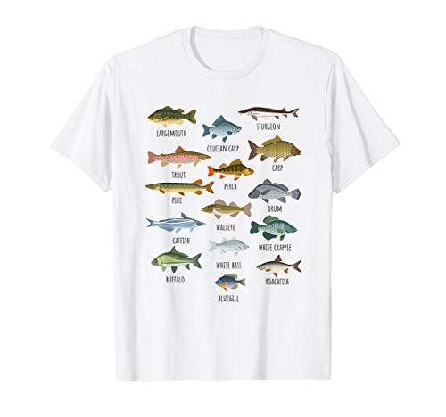 Types Of Freshwater Fish Fishing T-Shirt
