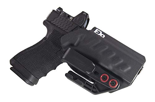 Fierce Defender IWB Holster Compatible with Glock 19 23 32 w/Tuckable Clip and Claw The Uninfringed Series -Made in USA- Gen 5 Compatible (Black)