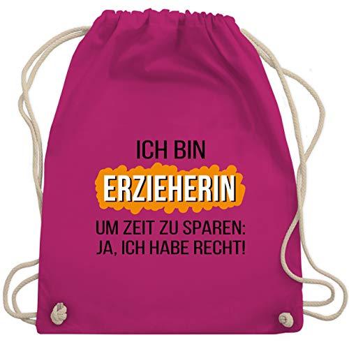 Shirtracer Sonstige Berufe - Erzieherin - Unisize - Fuchsia - turnbeutel erzieherin - WM110 - Turnbeutel und Stoffbeutel aus Baumwolle