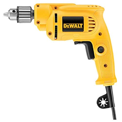 DEWALT Corded Drill with Keyed Chuck, 7.0-Amp, 3/8-Inch (DWE1014)