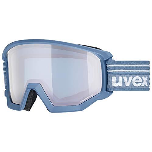 uvex Unisex-Erwachsene Athletic FM Skibrille, lagune mat/silver-blue, Einheitsgröße