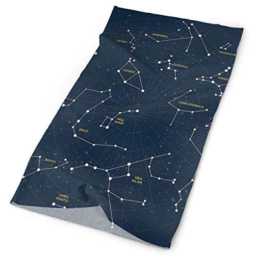 Quintion Robeson Kopfbedeckung Schweißband, Sky Map Andromeda Lacerta Cygnus Lyra Herkules Draco Stiefel Lynx, Sport Kopftuch für Männer Frauen