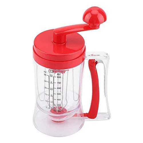 FYstar Handkurbel Teig Spender Küche Teig Spender Cup Kuchen Separator Pfannkuchen Maschine Hand Teig Maschine