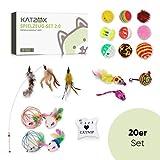 KATZOX© Premium Katzenspielzeug [20er Set] - Verbessertes Konzept 2020 - Innovative Katzen...