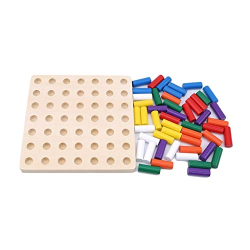 ZSYLOVE ZHANGSUYUAN Montessori Materiales Juguetes Juegos educativos Cilindro Bloques de zócalo de Madera Juguetes de Matemáticas Niños Juguetes educativos tempranos (Color : Multicolor)