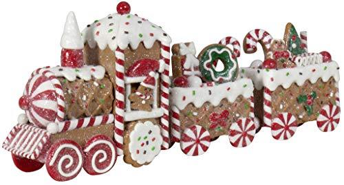 Christmas Paradise Deko Lebkuchen-Zug Weihnachtliche Dekoration Weihnachtsdeko 33cm Bunt