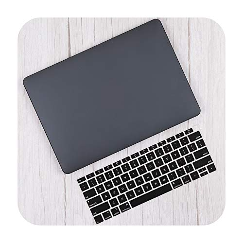Hard Plastic Cover for MacBook Air 13 Inch A2337 A2179 2020 Pro 13 16 Touch Bar A2141 A2338 A2289 Case + Keyboard Skin-Black-New Pro 13 A1700 8
