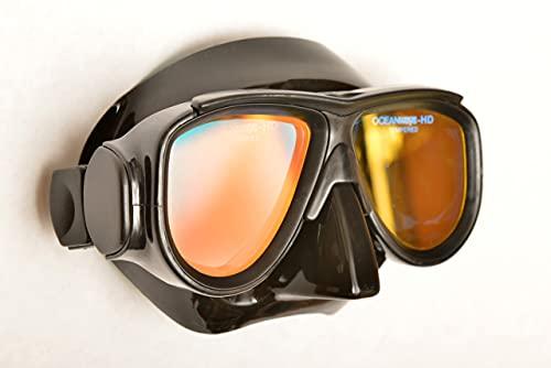 SeaDive Oceanways OceanCat-HD High Definition w/Anti-UV/Glare w/Anti-Fog Scuba/Spearfishing Dive Mask (OM964BKSFF)
