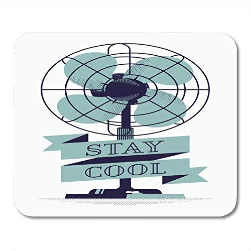 Mauspads Weiß Cool Schön Retro Retro Ventilator Fan und Stay Title Mauspad für Notebooks, Desktop-Computer Matten Büromaterial