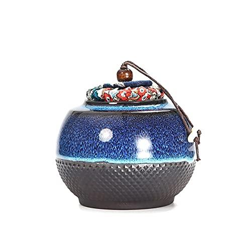 LIUTIAN Céramique Mini Mini Pors de rangement portable, bocaux à sucre avec couvercles scellés, pots de sucre en poudre de café et plus de contenants de stockage de nourriture pour comptoirs de cuisin